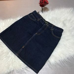 bdg Urban Outfitters dark blue jeans mini skirt